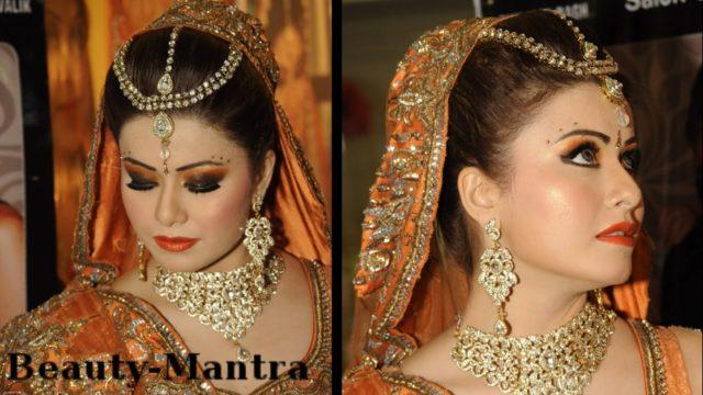 Wedding Makeup – Black And Orange Smokey Eyes – Complete Hair And Makeup